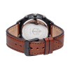 Paul Hewitt Chrono Line Black Sunray Stainless Steel Brown Leather-014