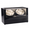 Watch winder i sort piano træ til 4 ure m. beige-015