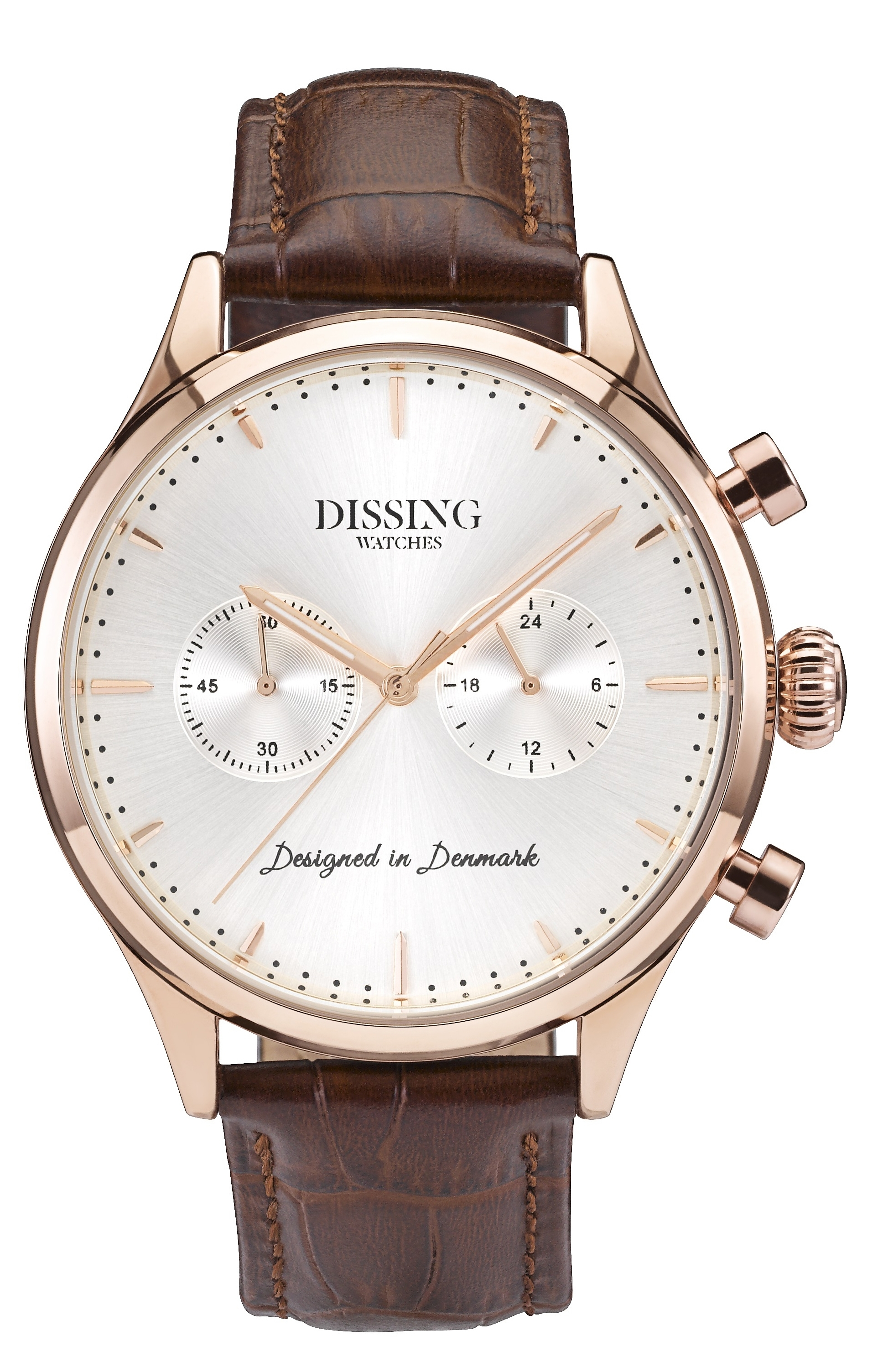 Image of   Dissing Brown Leather Gold/Steel