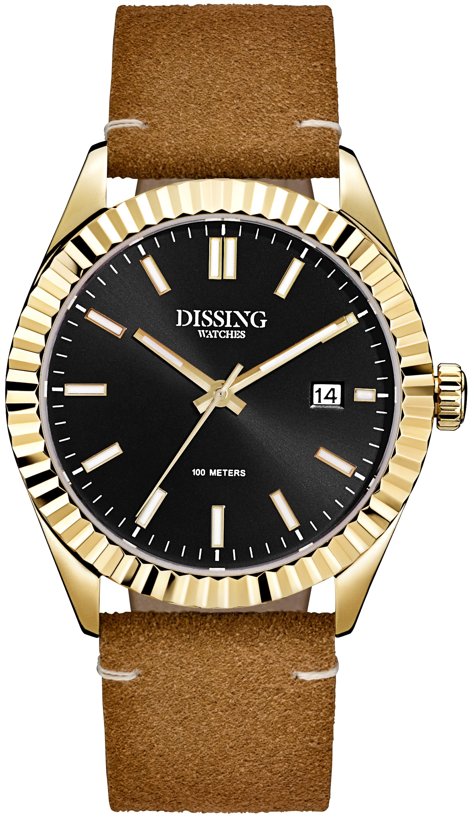 Image of   Dissing Date Leather Gold/Black