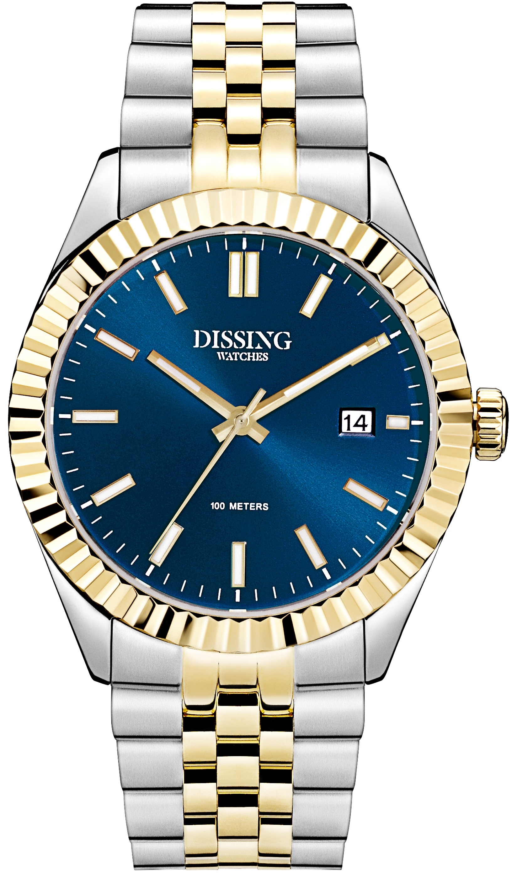 Image of   Dissing Two Tone Date Gold/Blue