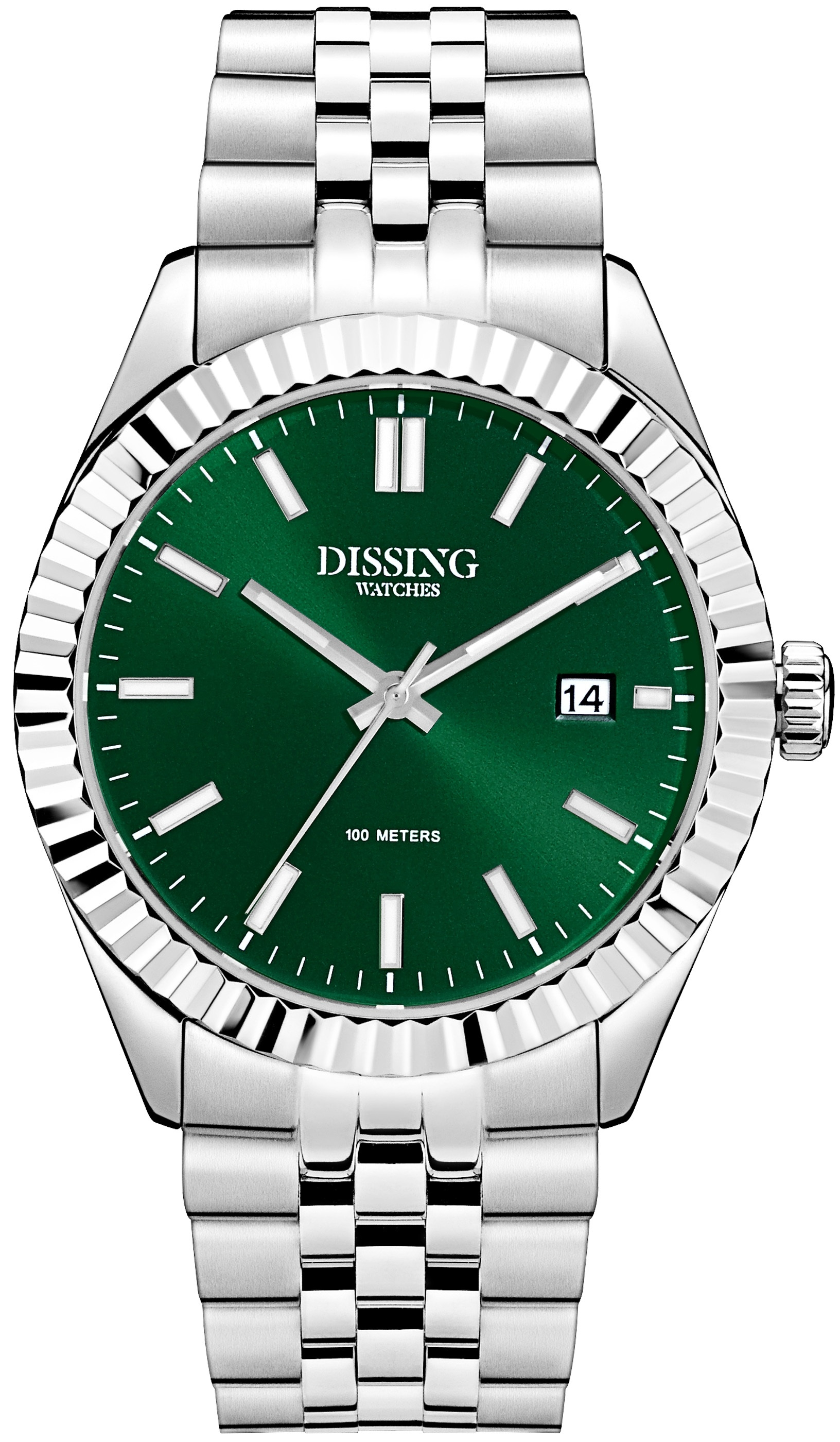 Image of   Dissing Date Steel/Green