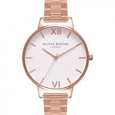 Image of   Olivia Burton White Dial Bracelet Rose Gold