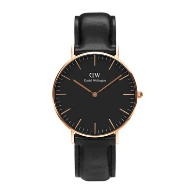 Image of   Daniel Wellington Classic 36 Sheffield Gold Black