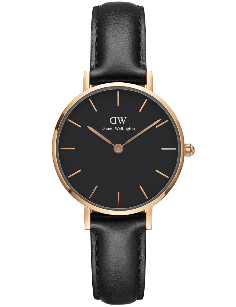 Image of   Daniel Wellington Classic Petite 32 Sheffield Gold Black