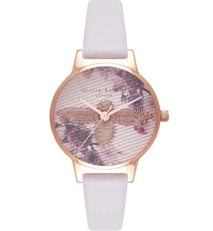 Image of   Olivia Burton Midi Emroidered Dial Blush & Rose Gold
