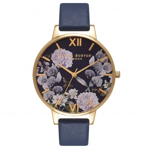 Image of   Olivia Burton Enchanted Garden Bee Blooms Midnight Dial