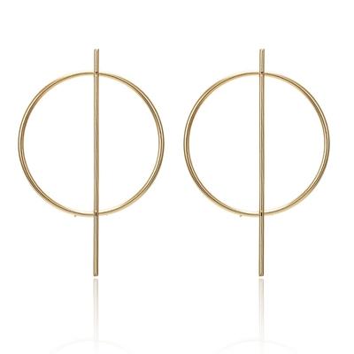 Billede af Øreringe med flot guld design