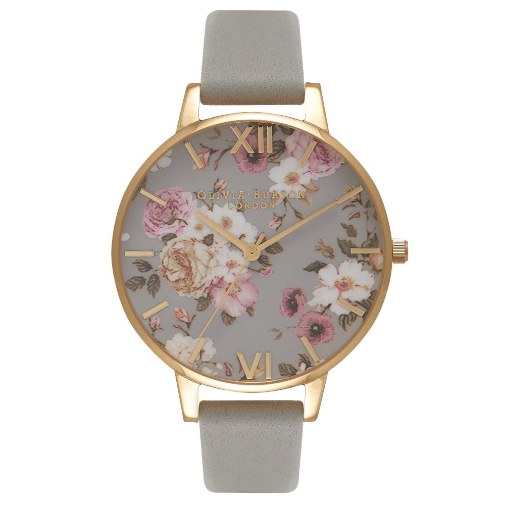 Image of   Olivia Burton Flower Show Grey & Gold