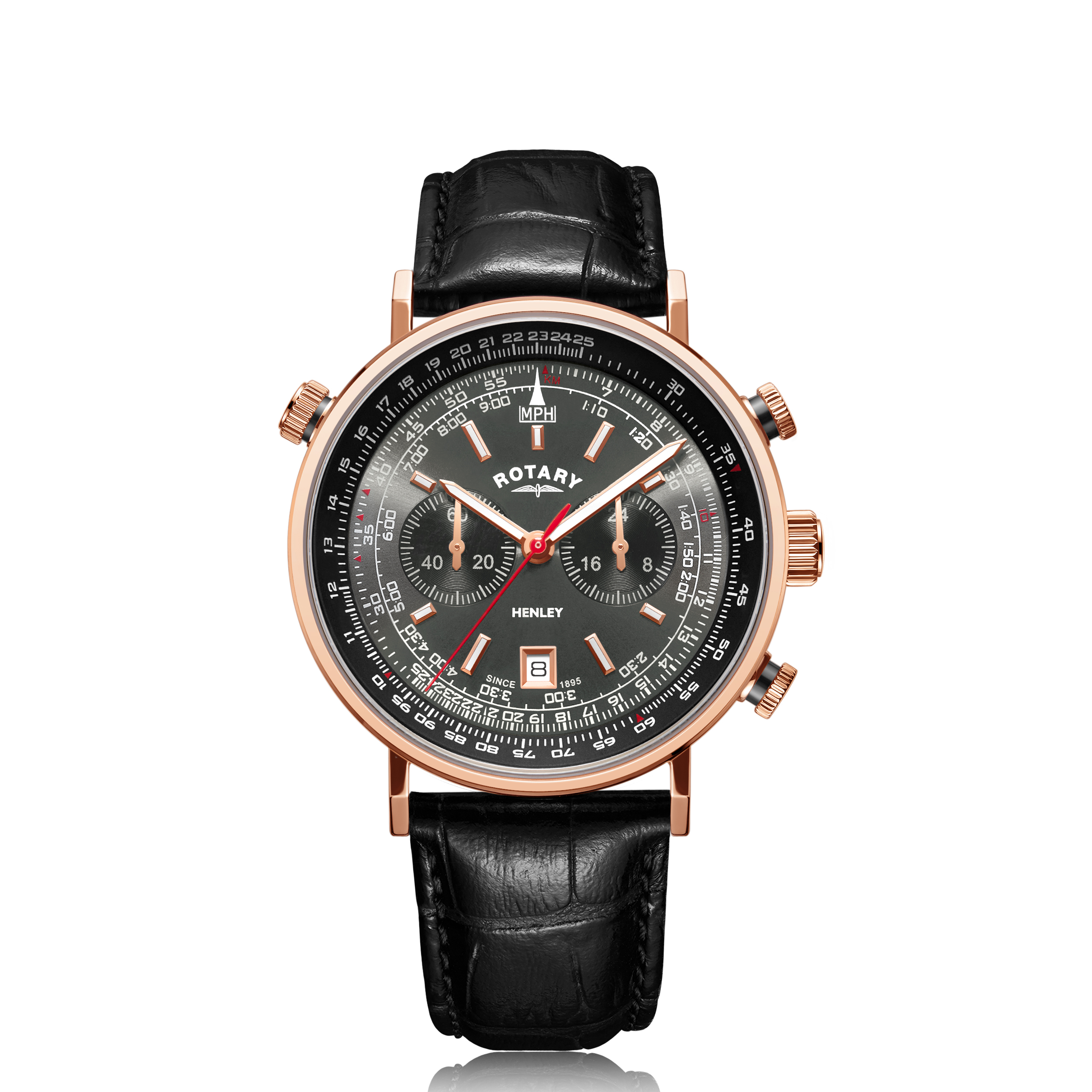 Image of   Rotary Henley Rose Gold PVD Chronograph GS05237/20