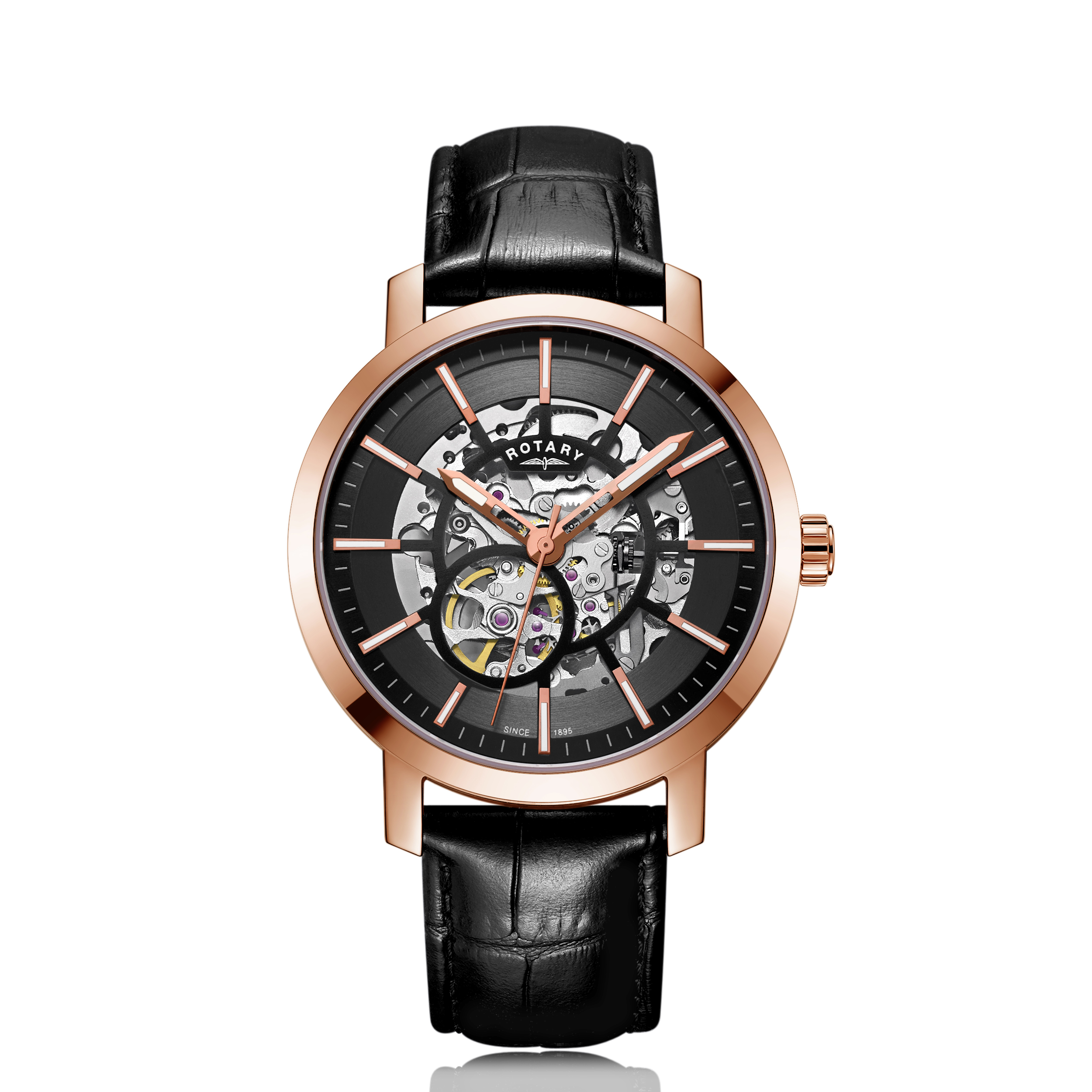 Image of   Rotary Rose Gold Greenwich G2 Gents GS05354/04