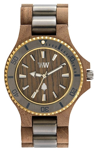 Image of   WeWood Date Me Nut Rough Gun Gold