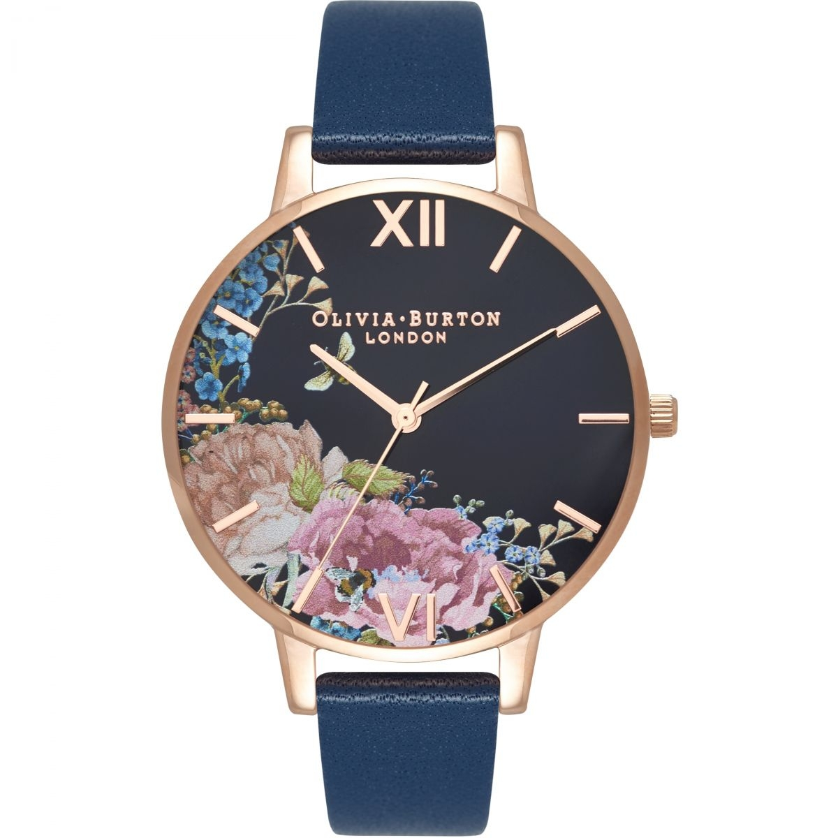 Image of   Olivia Burton Enchanted Garden Floral Midnight