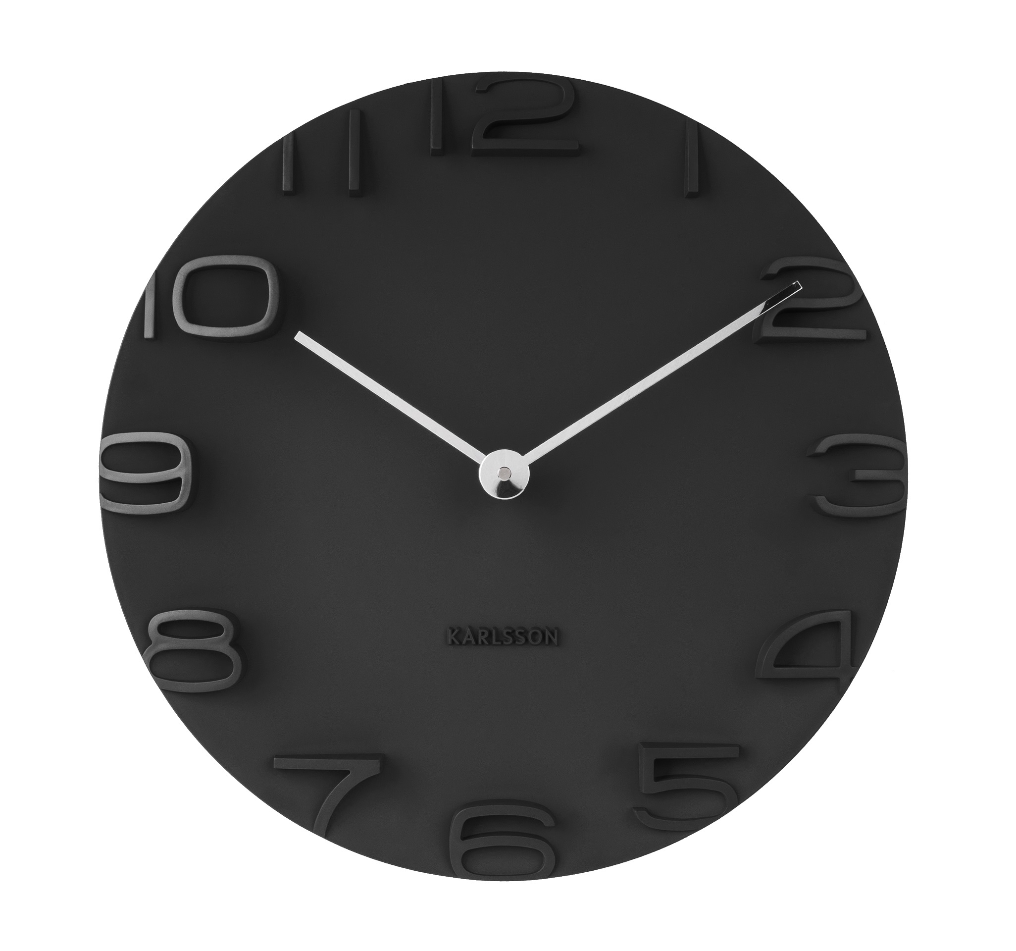 Image of   Karlsson Wall clock On The Edge black w. chrome hands