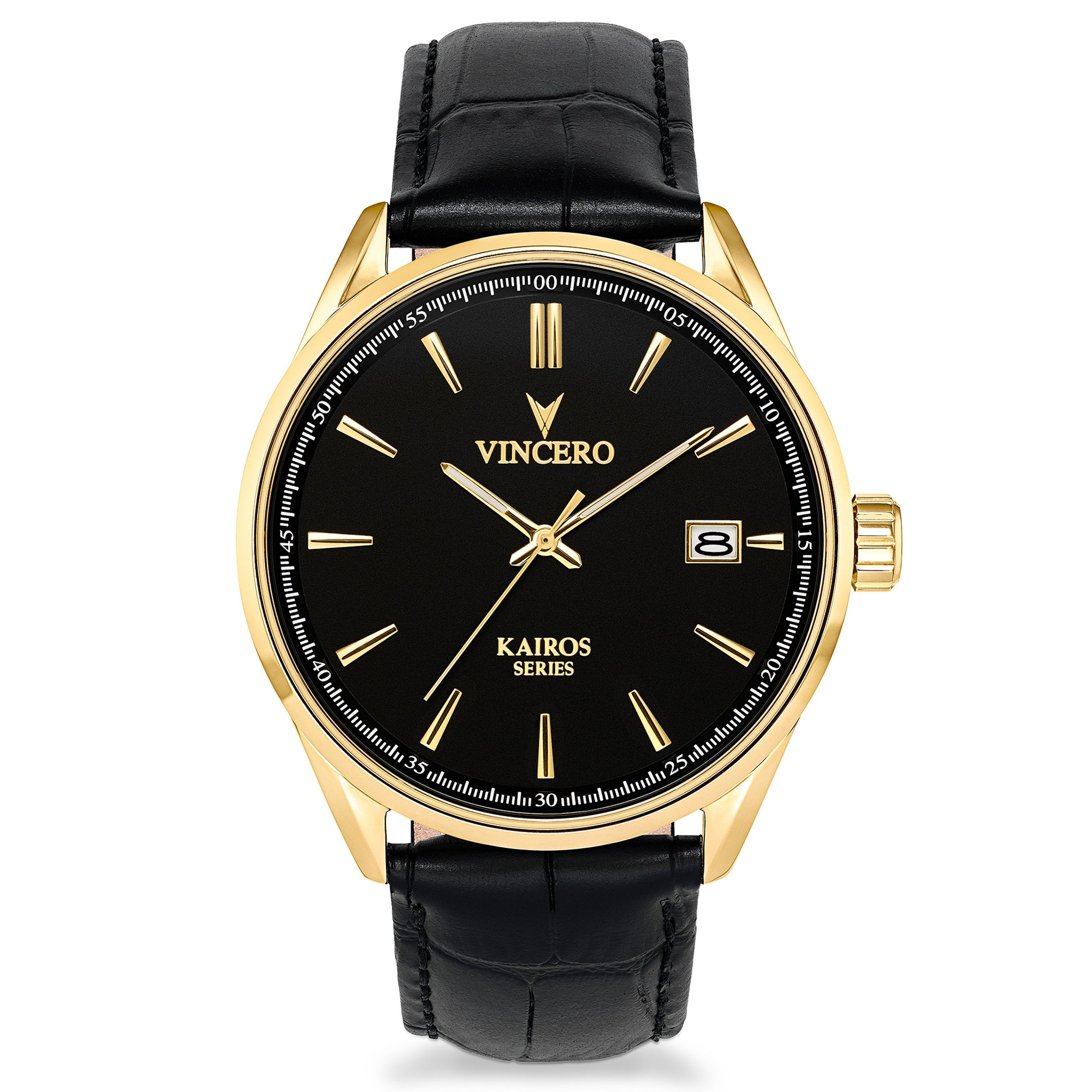 Image of   Vincero Kairos Black/Gold