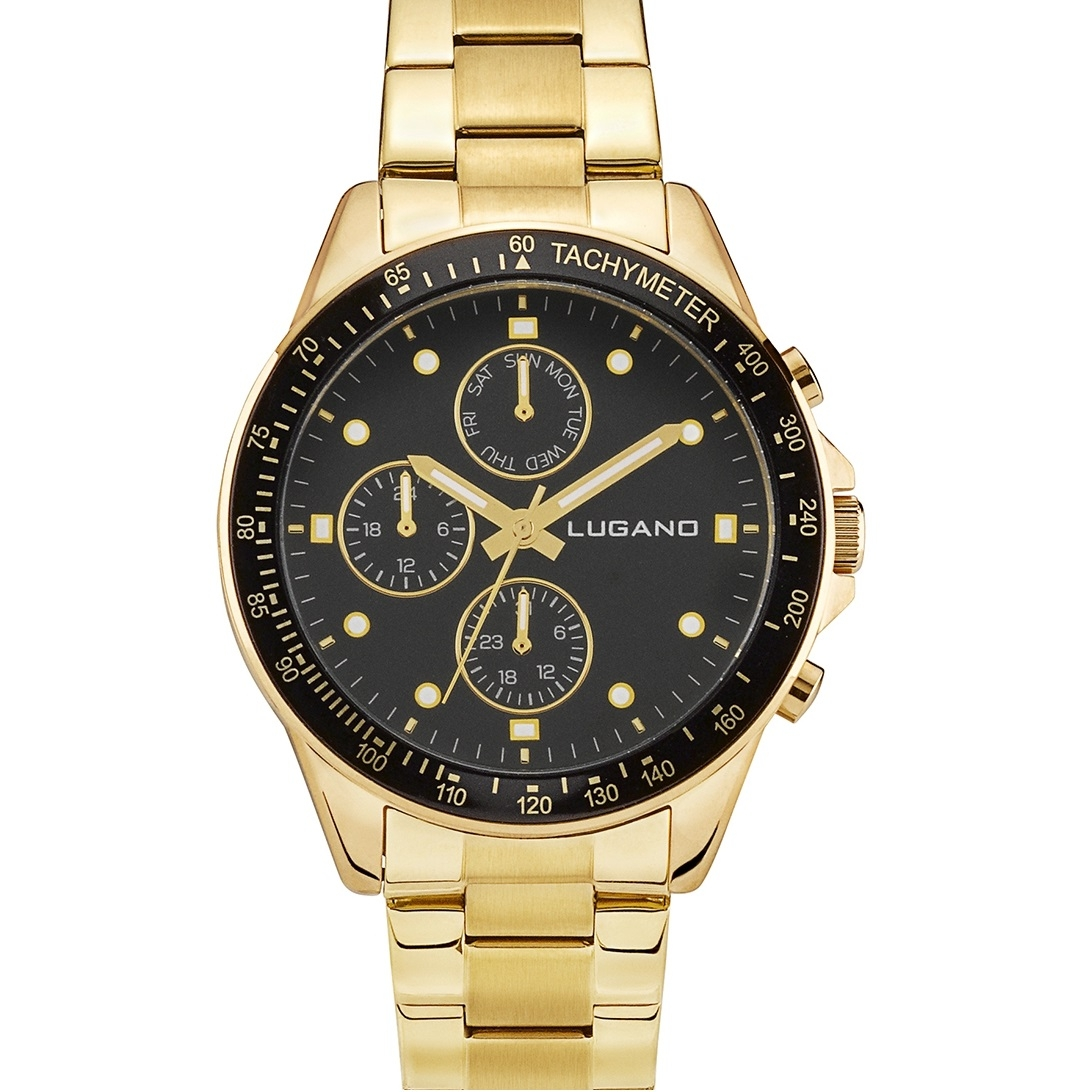 Image of   Lugano Chrono Gold/Black