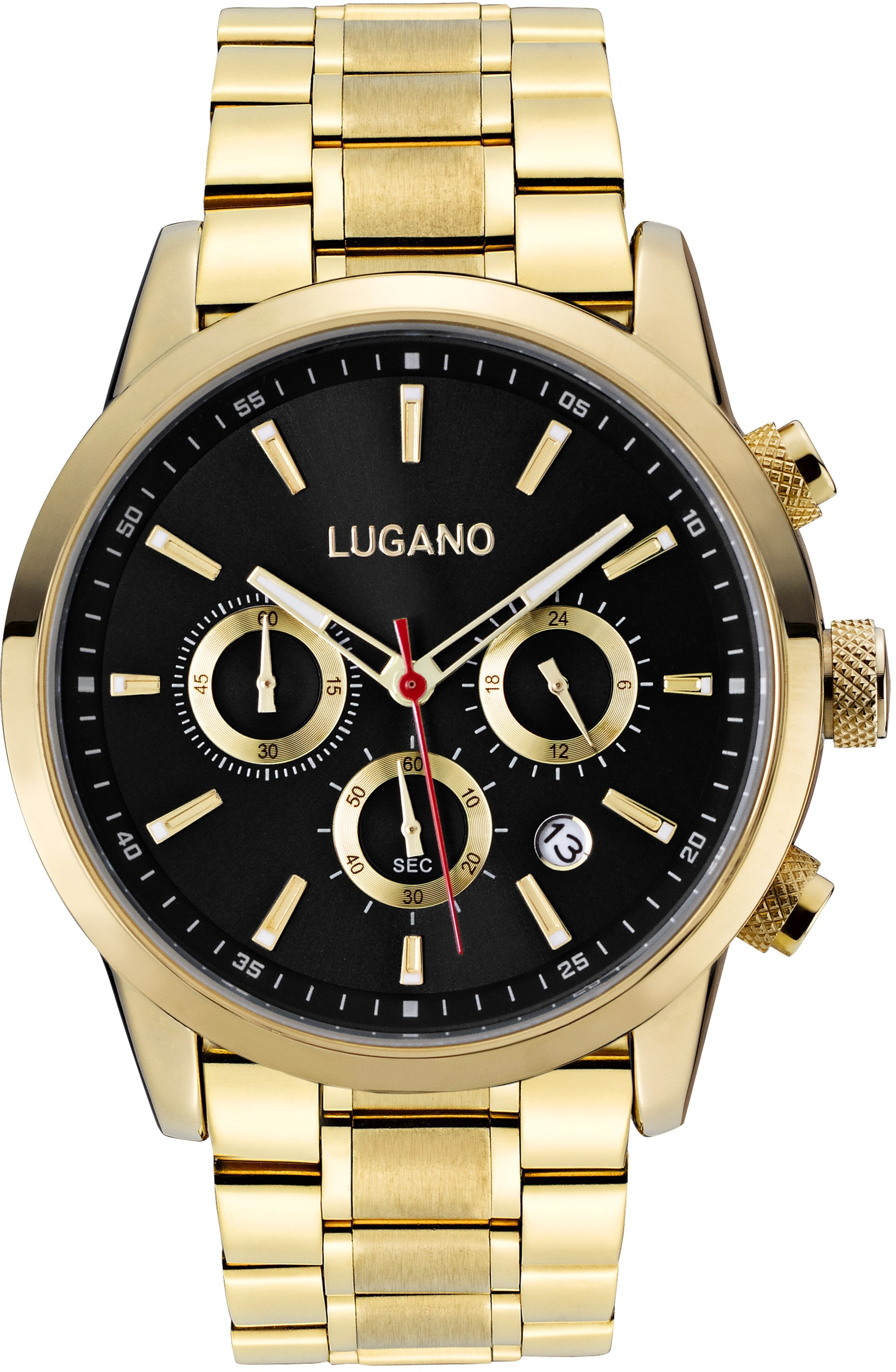 Image of   Lugano Master Gold/Black