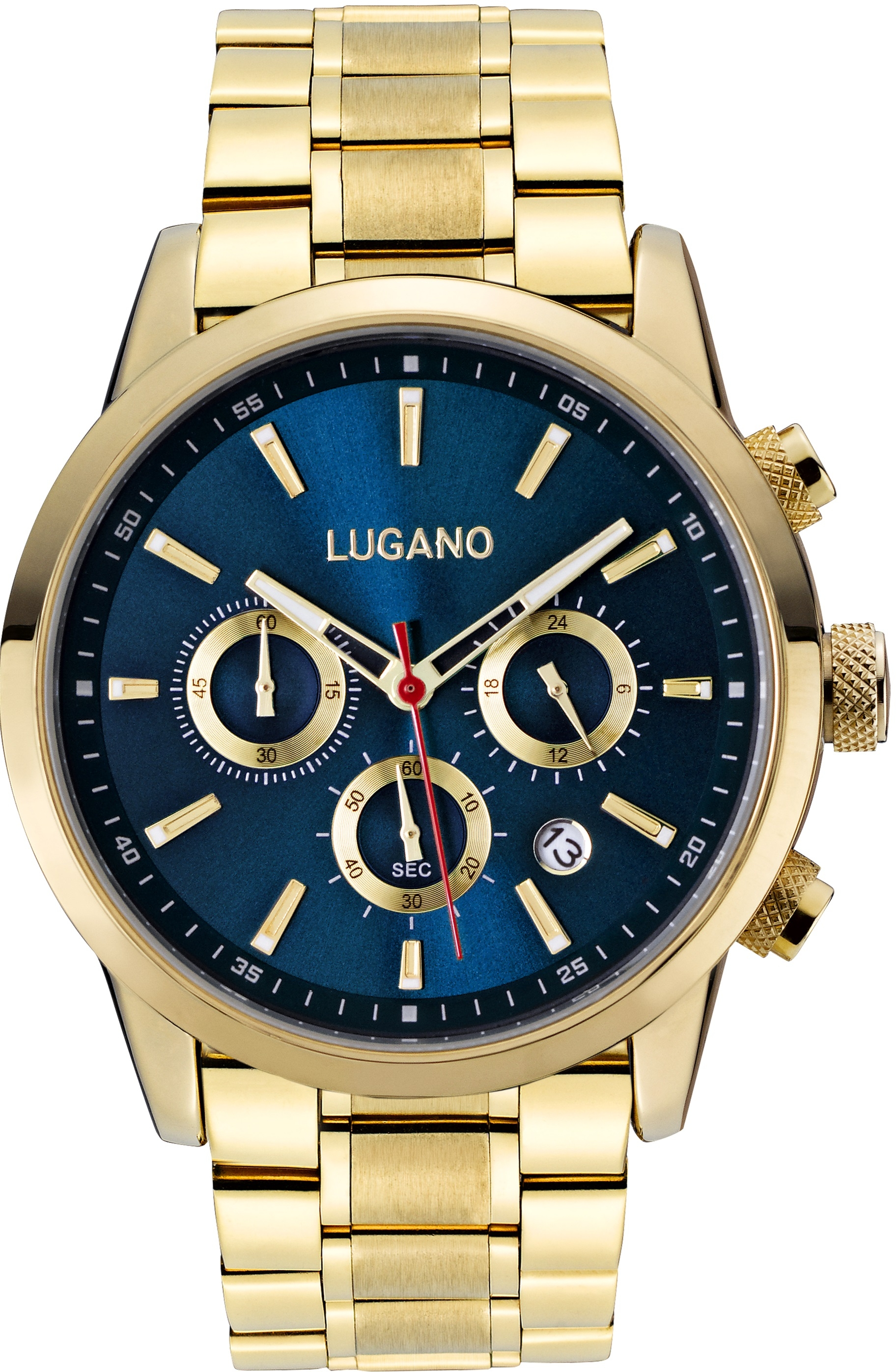Image of   Lugano Master Gold/Blue