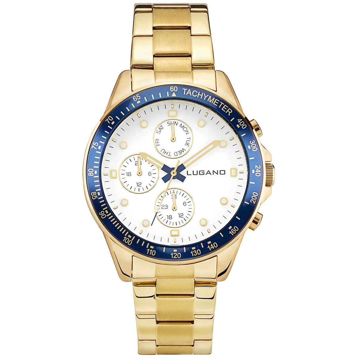 Lugano Chrono Gold/White