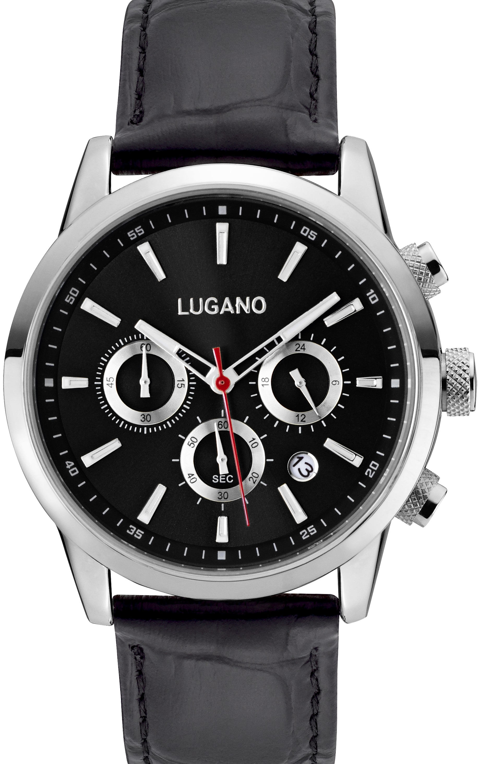 Image of   Lugano Master Black Leather Black