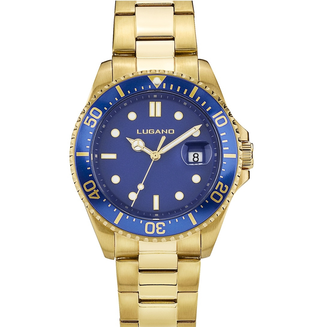 Image of   Lugano Diver Gold/Blue