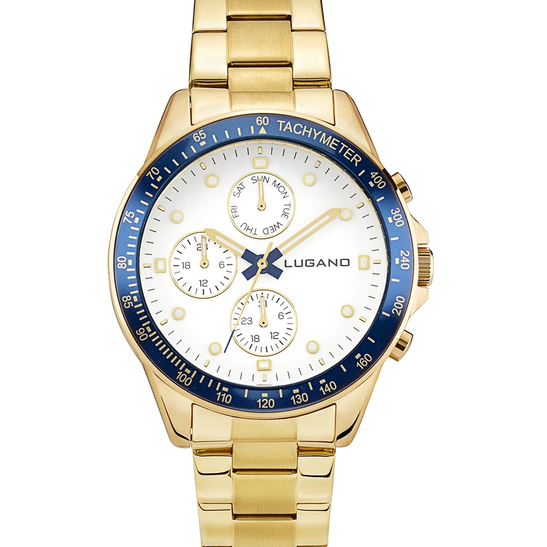 Image of   Lugano Chrono Gold/White