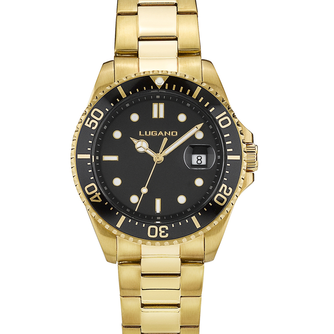Image of   Lugano Diver Gold/Black