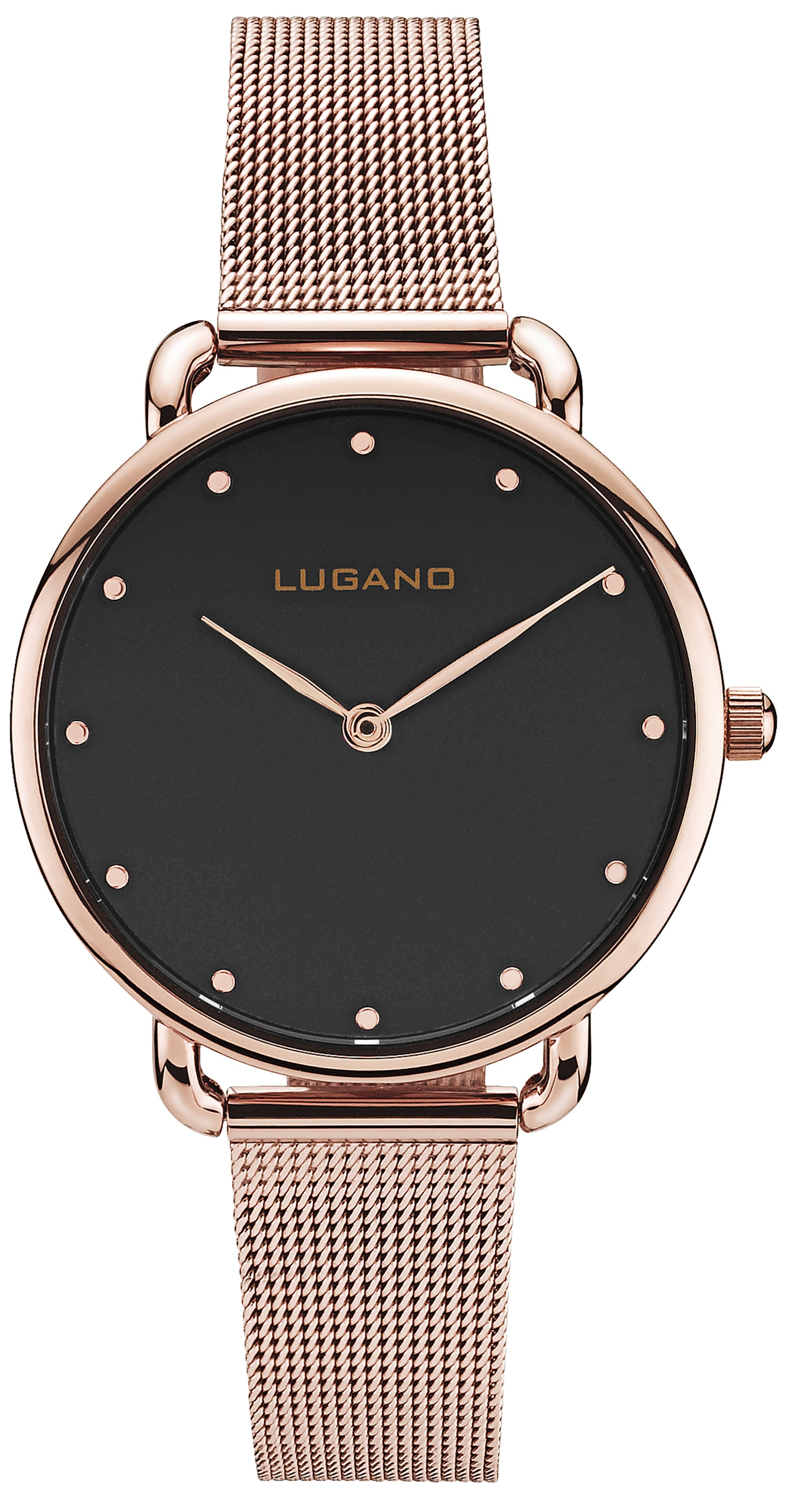 Image of   Lugano Rose Black Mesh