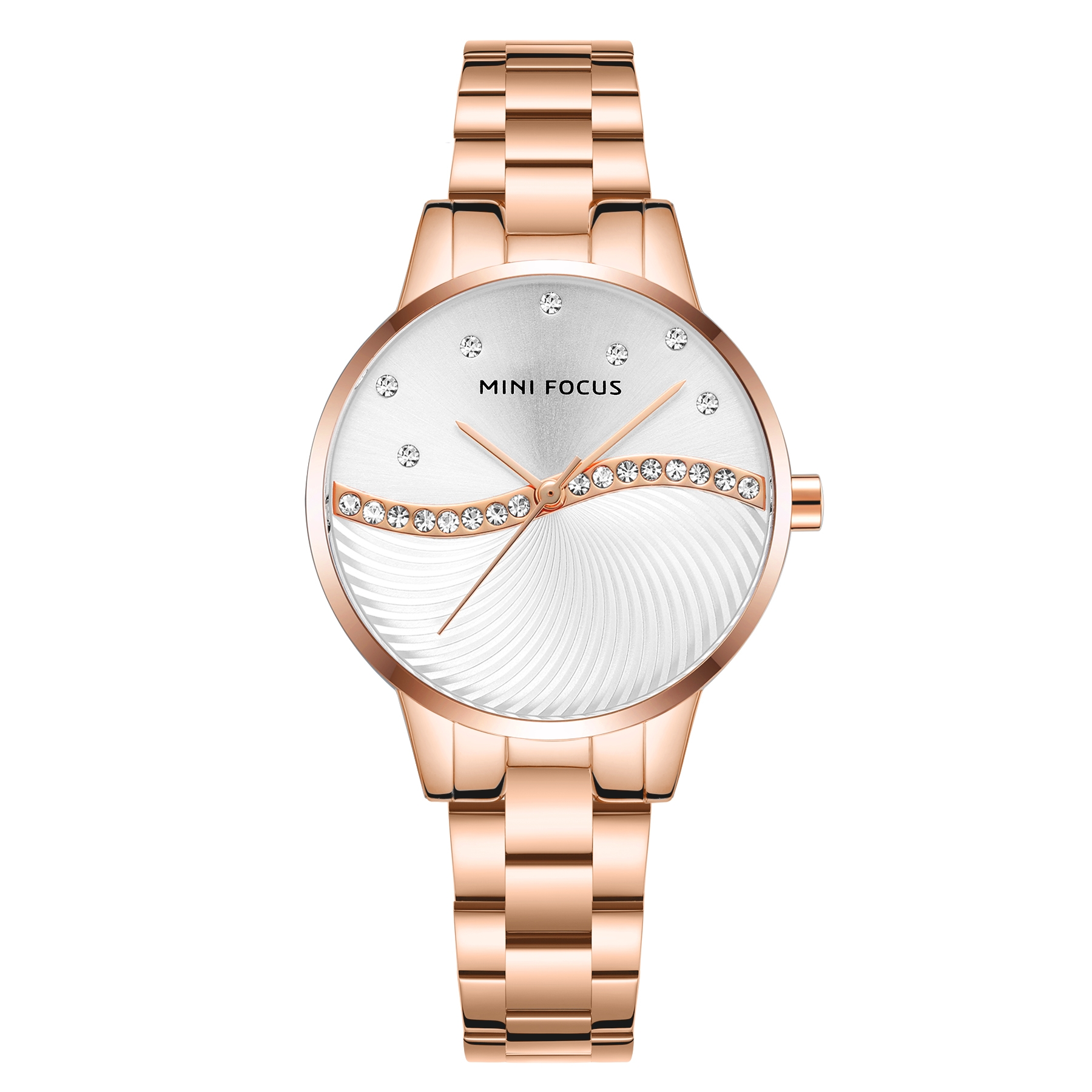 Image of   Megir Mini Focus MF0263 Diamond Rose Gold