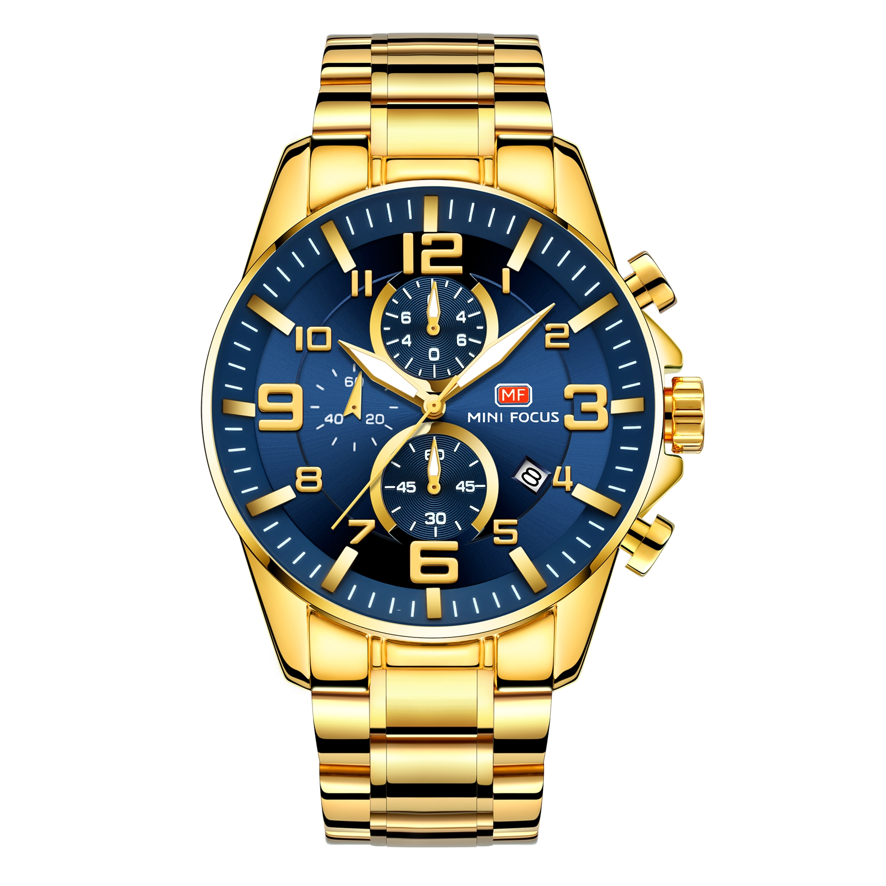 Image of   Megir Mini Focus MF0278 Gold/Blue