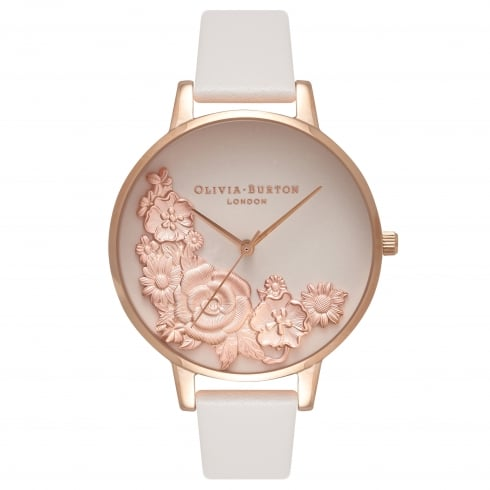 Image of   Olivia Burton Moulded Floral Bouquet Blush And Rose Gold