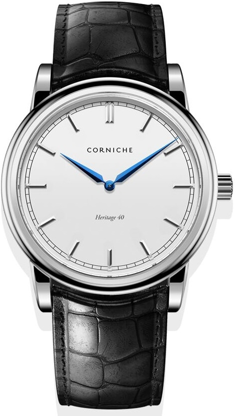 Image of   Corniche Men's Heritage 40 Stainless Steel with White Dial