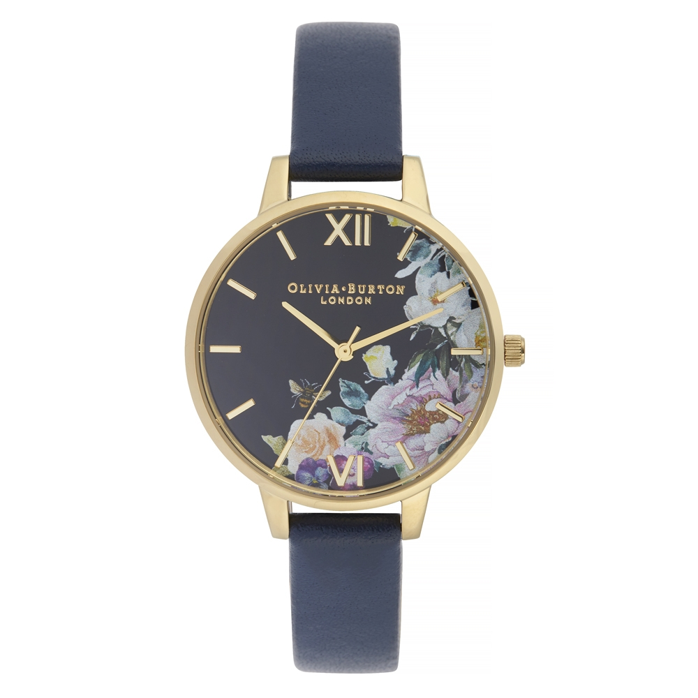 Olivia Burton 30mm Enchanted Garden Demi Dial