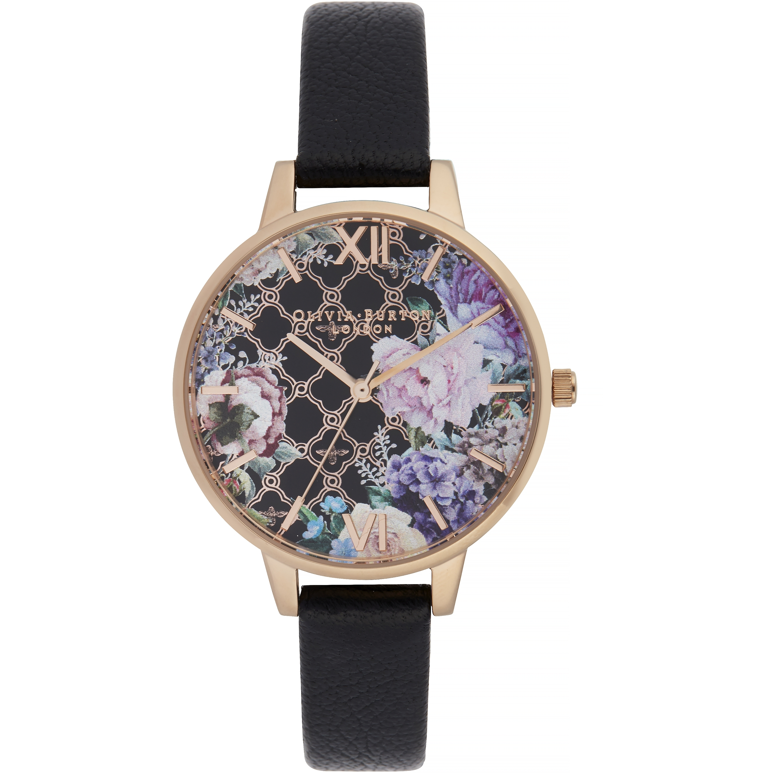 Image of   Olivia Burton Glasshouse Demi Dial Black