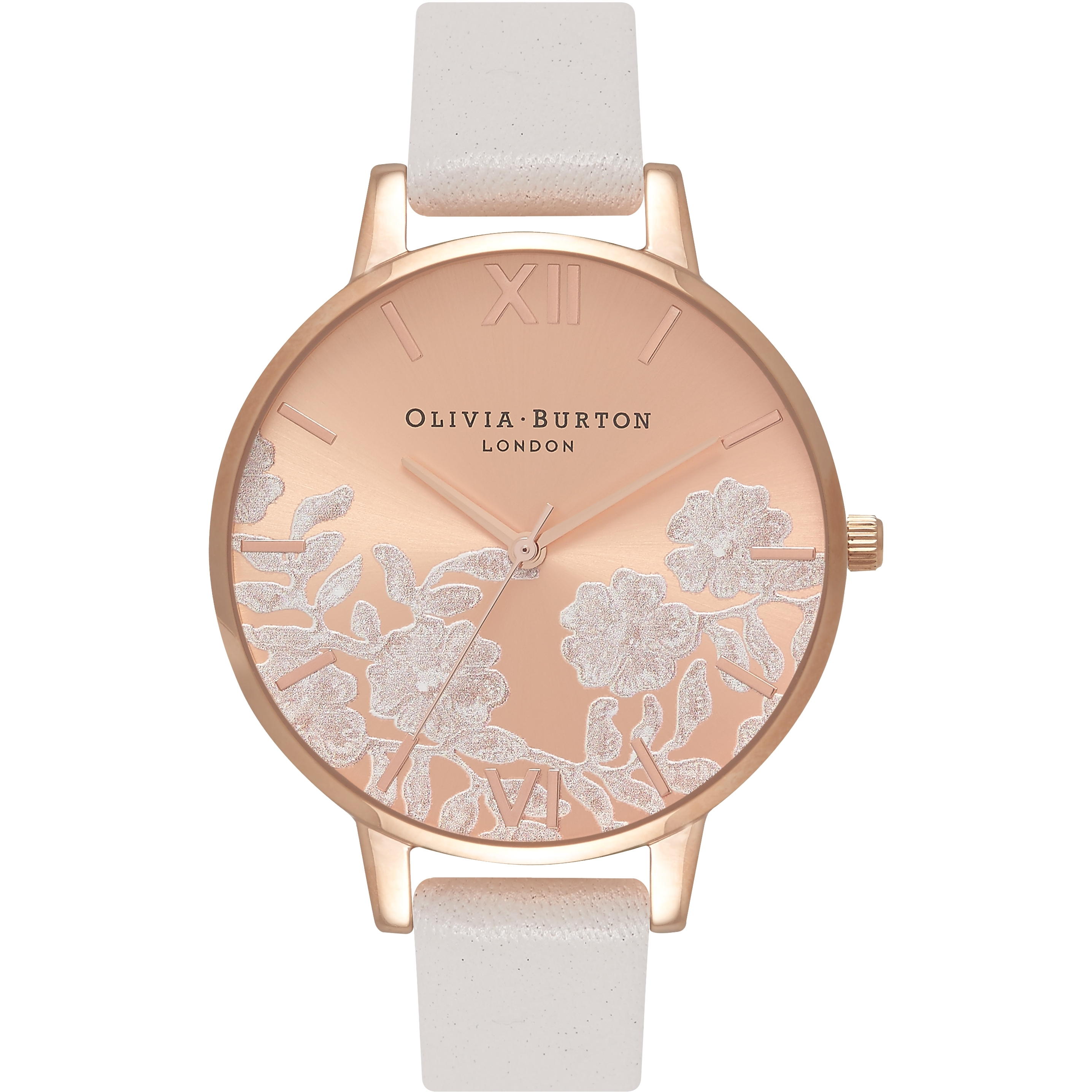 Image of   Olivia Burton Lace Detail Blush & Rose Gold