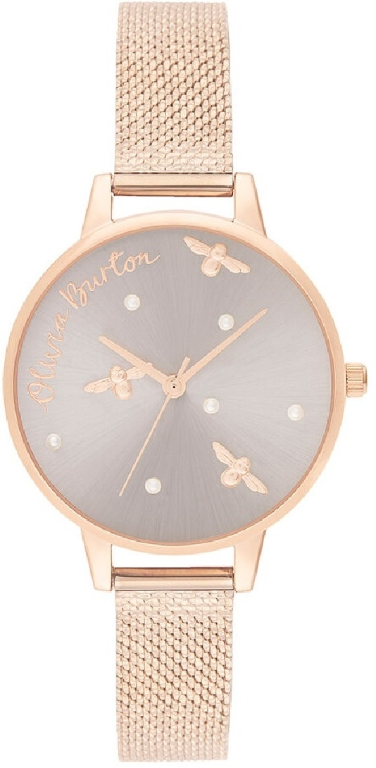 Image of   Olivia Burton Pearly Queen Pearl Detail Rose Gold