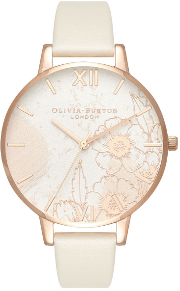 Image of   Olivia Burton Abstract Florals Vegan Nude & Rose Gold
