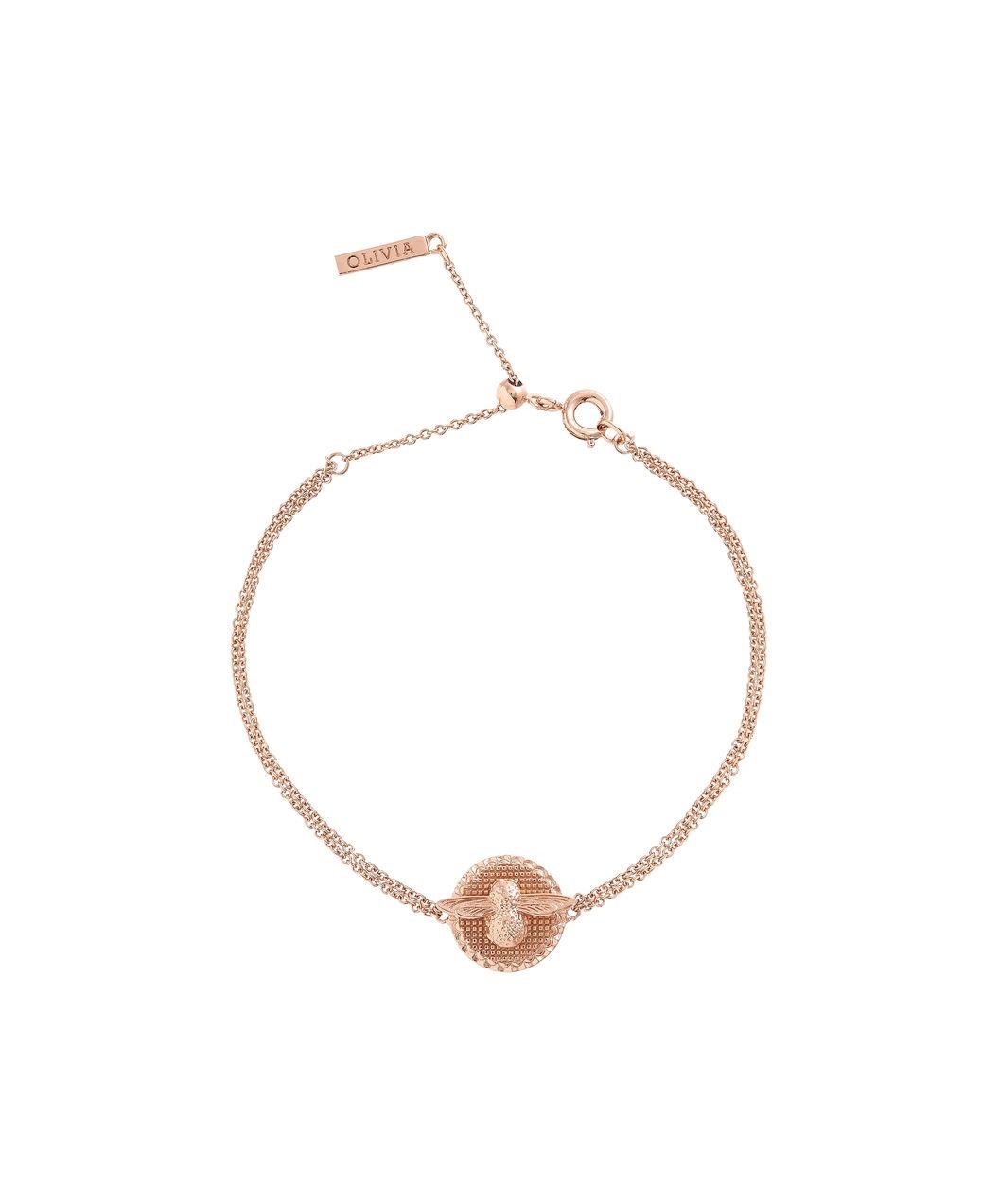 Olivia Burton Bee Coin Chain Bracelet Rose Gold
