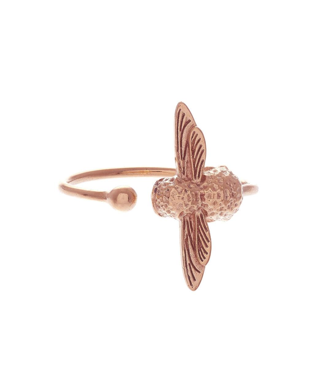 Image of   Olivia Burton Bee Pearl Rose Gold Ring