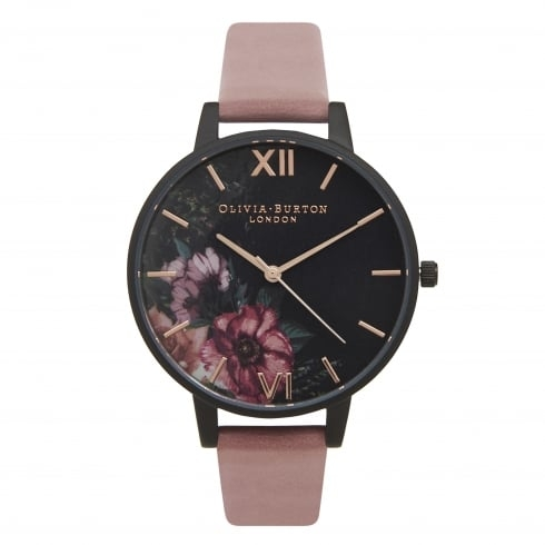 Olivia Burton After Dark Floral Black Dial & Rose Floral