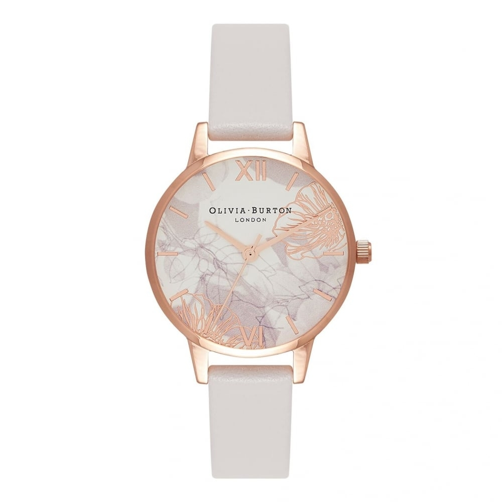 Image of   Olivia Burton Abstract Florals Blush & Rose Gold