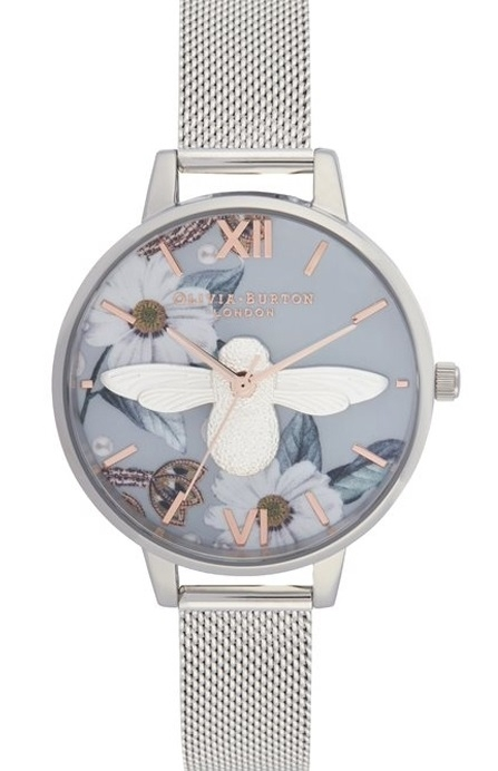 Image of   Olivia Burton Bejewelled Florals 3D Bee Demi Dial