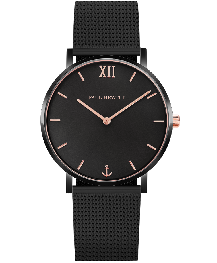 Image of   Paul Hewitt Sailor Line Black Sunray Mesh Strap Black