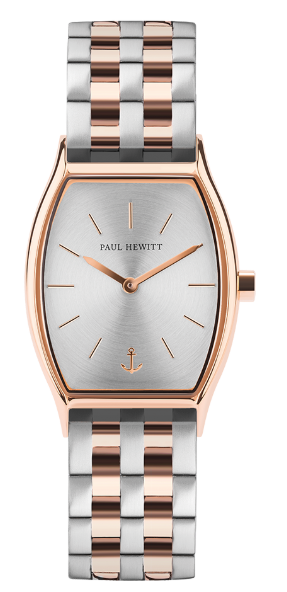 Image of   Paul Hewitt Silver Sunray IP Rose Gold Metal Strap Bicolor IP Rose Gold
