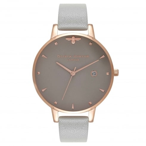 Image of   Olivia Burton Queen Bee Grey & Rose Gold