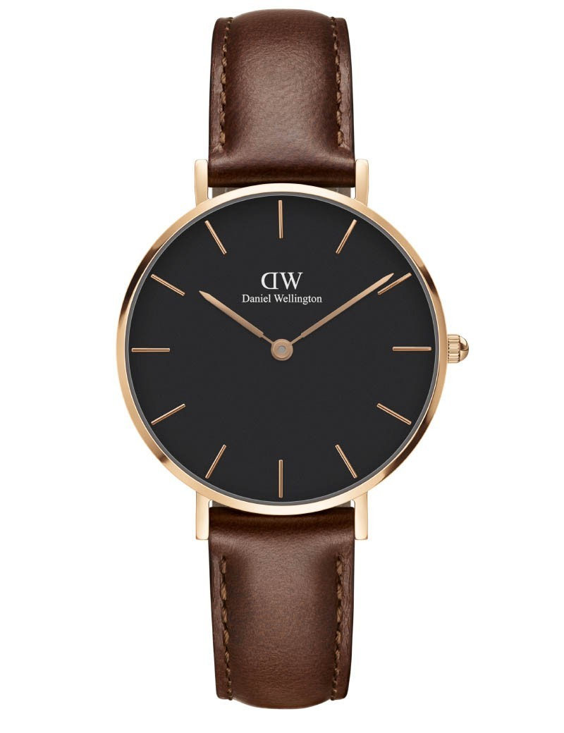 Image of   Daniel Wellington Classic Petite 32 St Mawes Gold Black