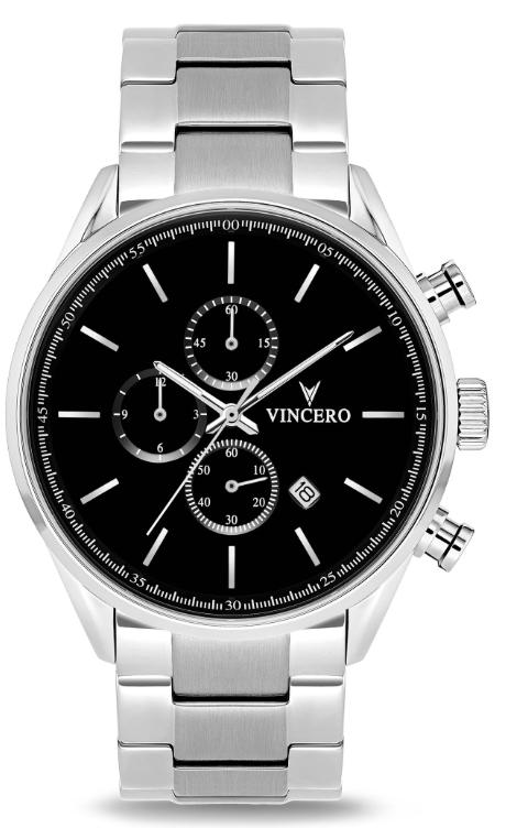 Image of   Vincero The Chrono S Black Silver Steel