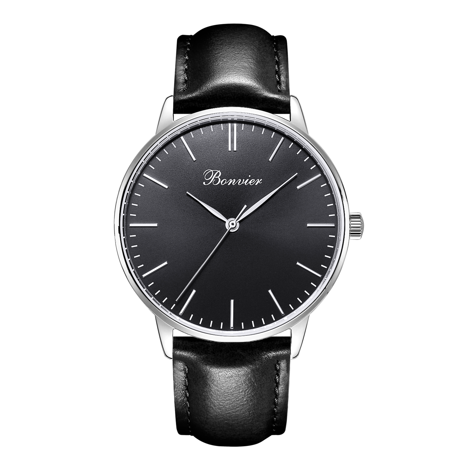 Image of   Bonvier Classic Black/Silver