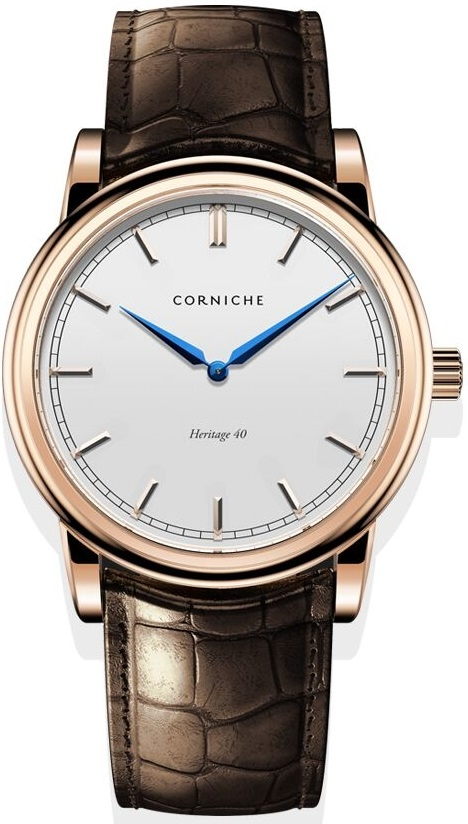 Image of   Corniche Men's Heritage 40 Rose Gold with White Dial